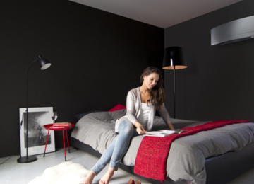 Modern shape of Daikin Emura fan coils to suit designer interiors.