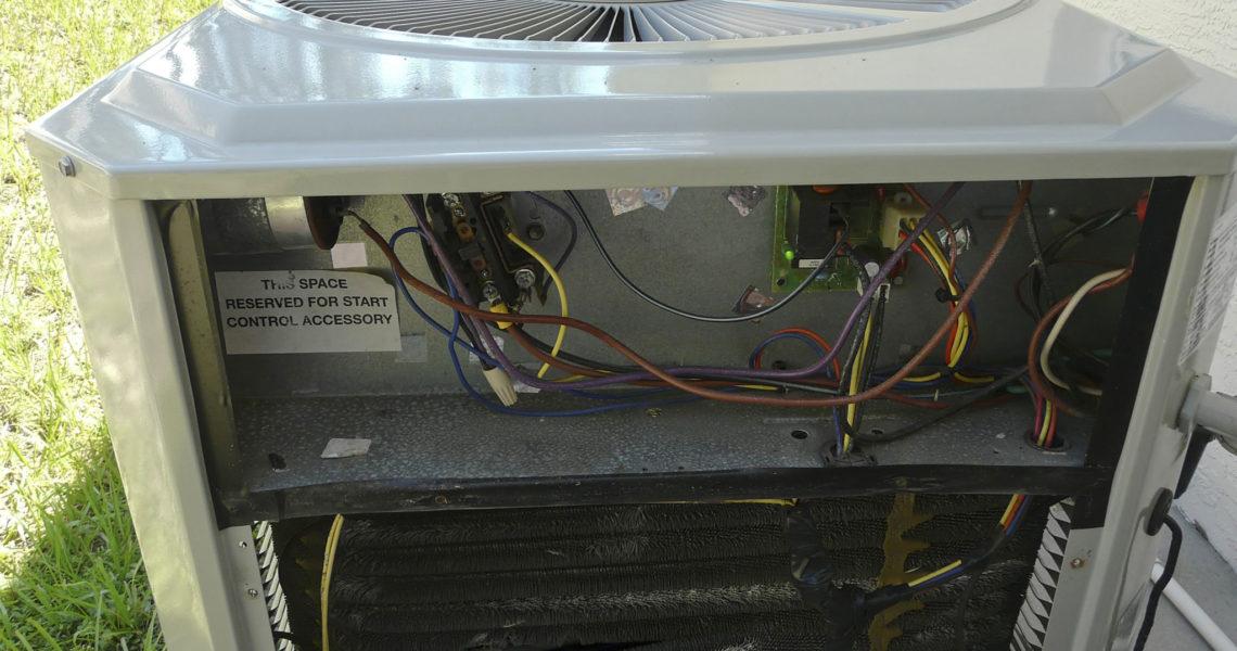 AC condensing unit repair