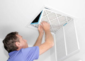 Ventilation system pleated panel air filter